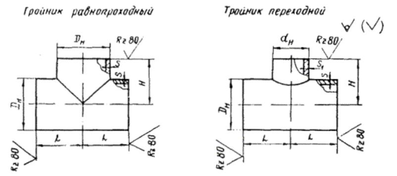 Тройник равнопроходной ТУ 26-08-693-81